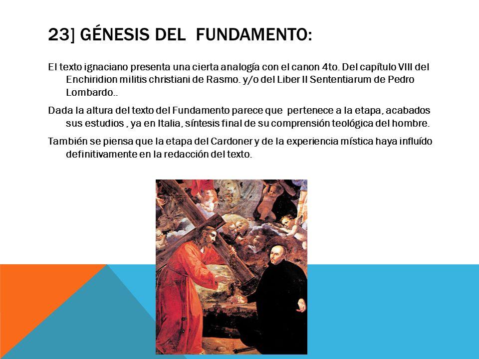 23] Génesis del Fundamento:
